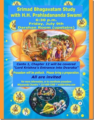 Prahladananda Swami SB study flyer