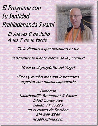 Prahladananda Swami spanish program