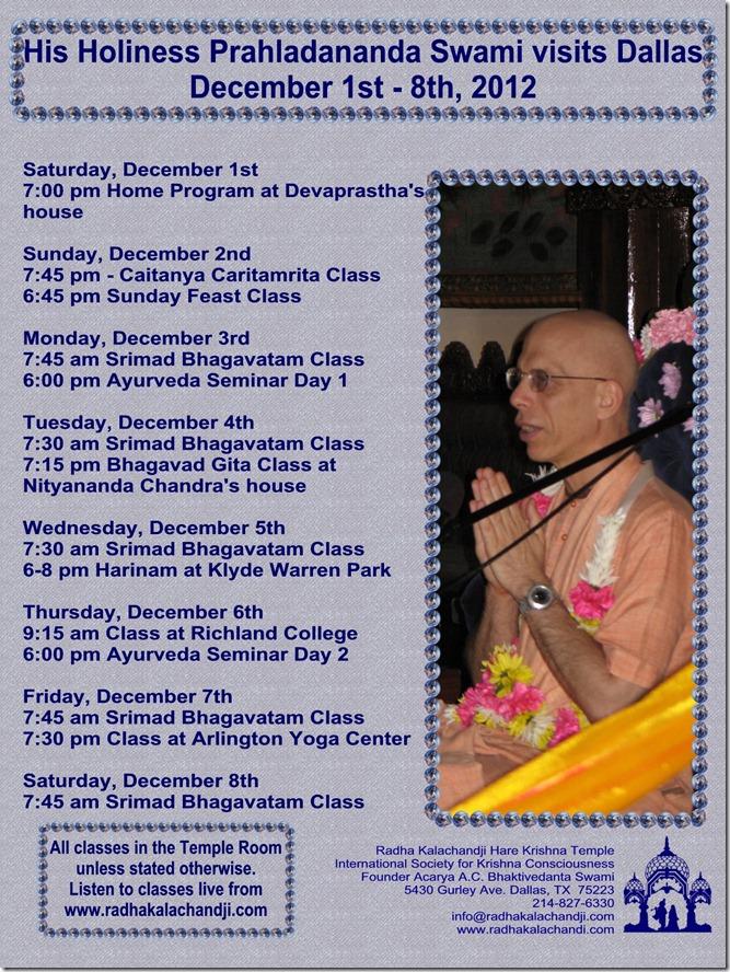 Prahladananda Swami flyer